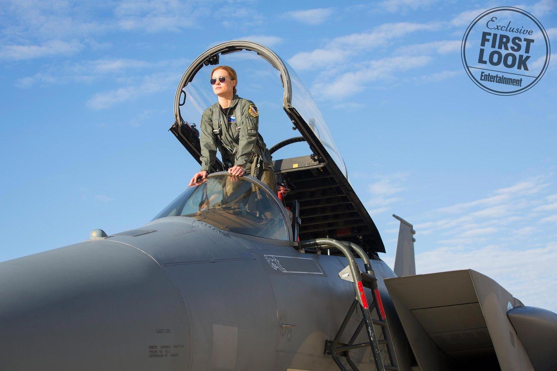Carol Danvers como piloto de las fuerzas aéreas