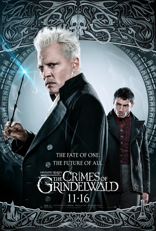 Grindelwald (Johnny Depp) y Credence (Ezra Miller)