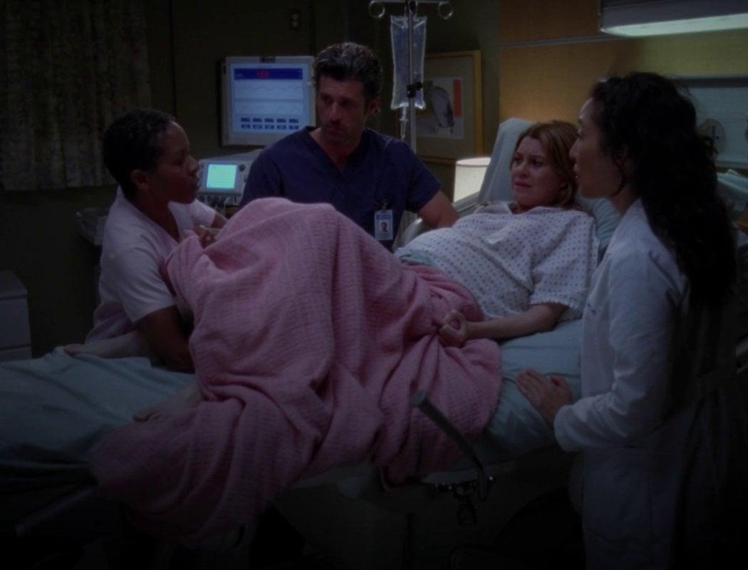 Meredith casi muere dando a luz (Temporada 9)