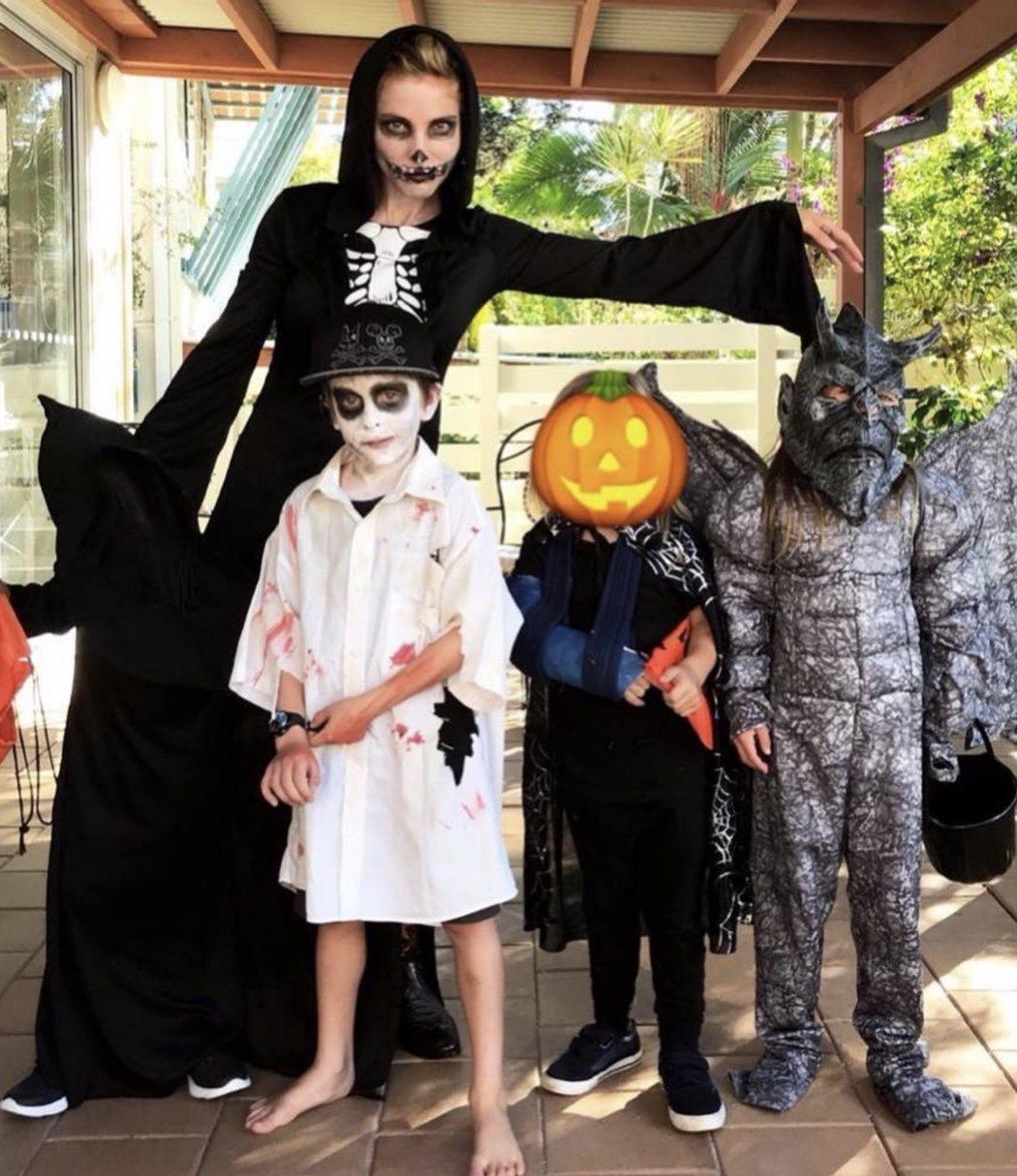 Elsa Pataky y sus hijos