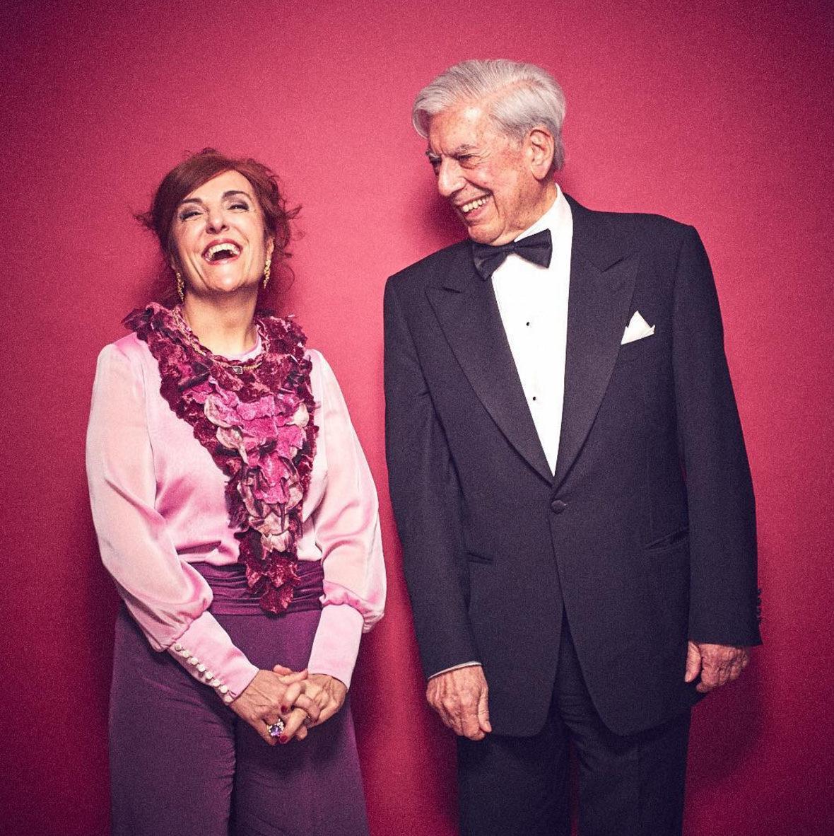 Elvira Linda y Mario Vargas Llosa