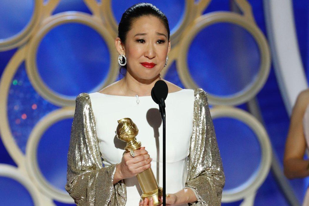 Sandra Oh, mejor ganadora que presentadora