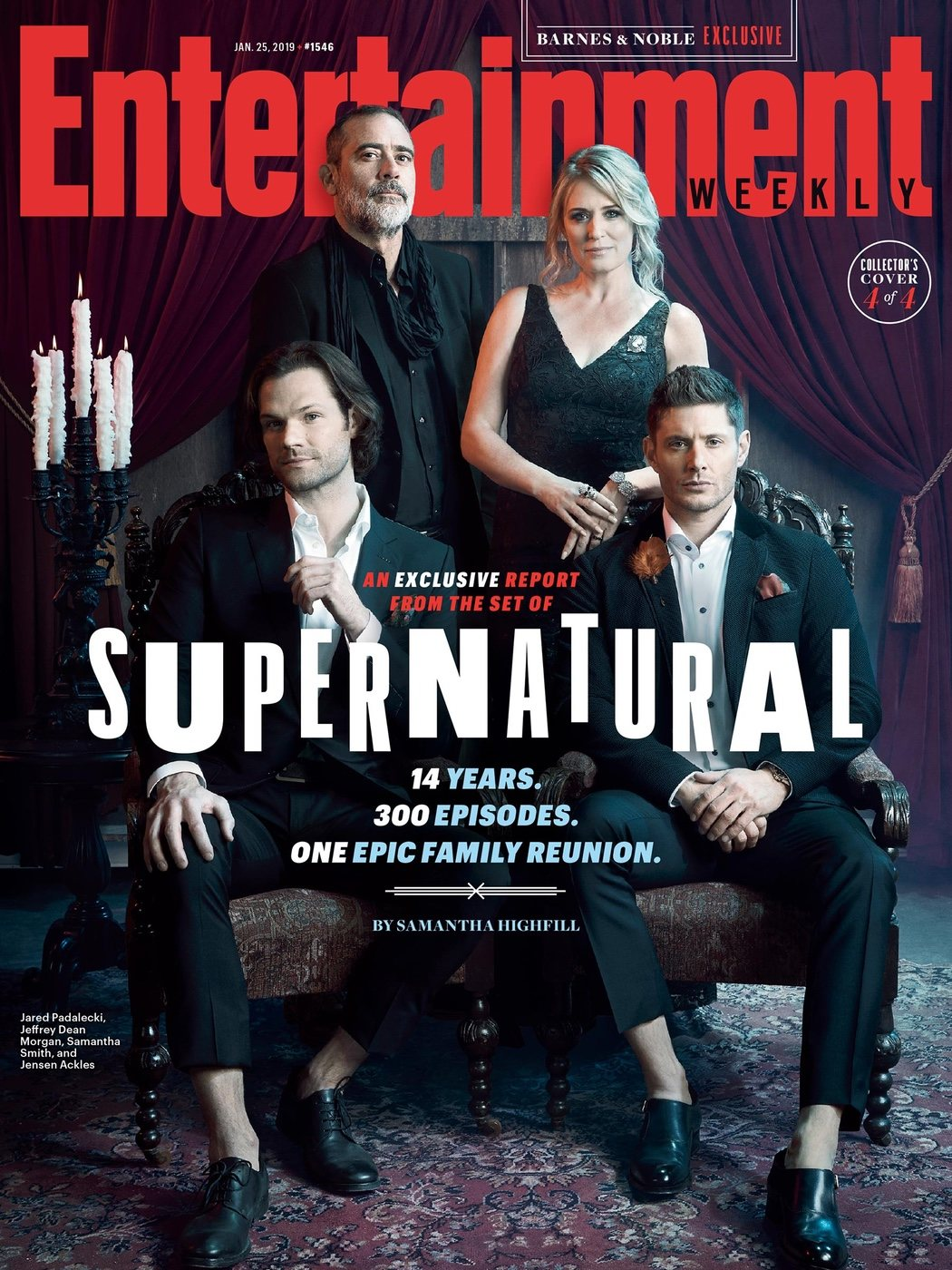 Portada EW con la familia Winchester al completo