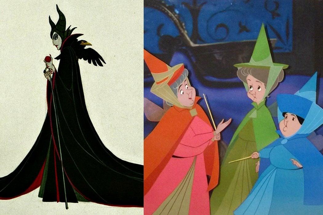 Maléfica y las Tres Hadas, dos formas diferentes de usar la magia