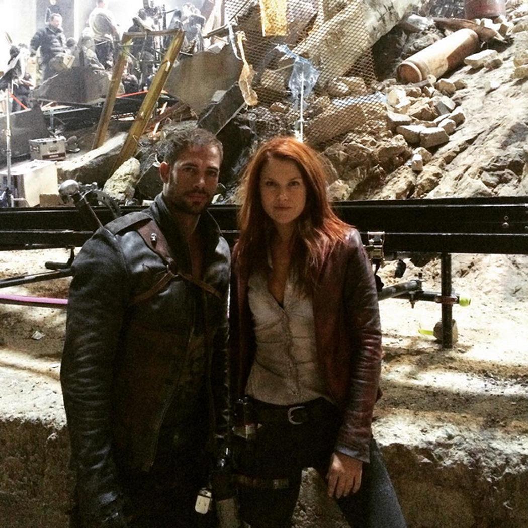 Ali Larter y William Levy en el rodaje de 'Resident Evil: The Final Chapter