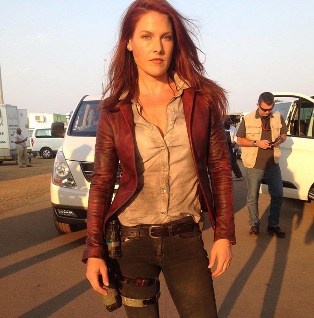 Ali Larter en el rodaje de 'Resident Evil: The Final Chapter