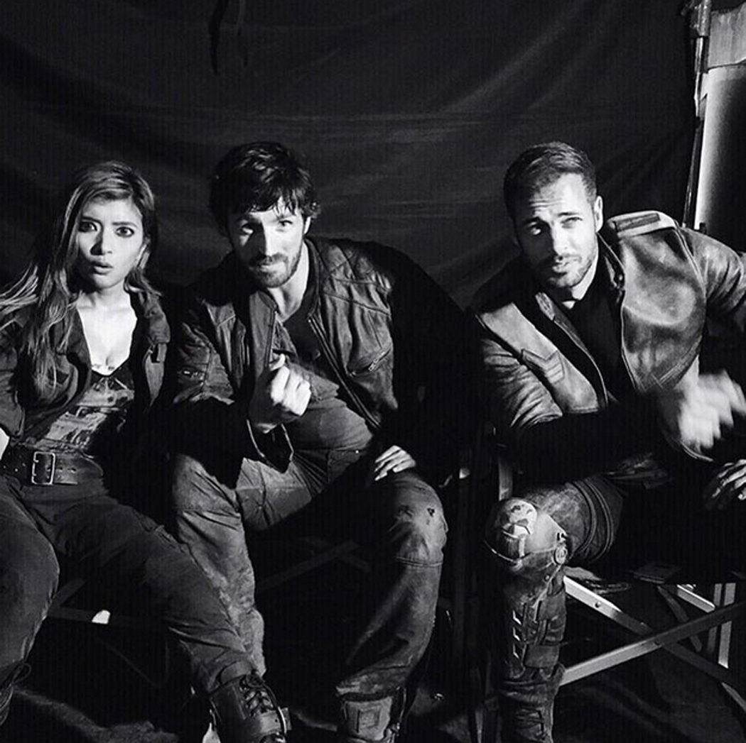 Rola, Eoin Macken y William Levy en el rodaje de 'Resident Evil: The Final Chapter