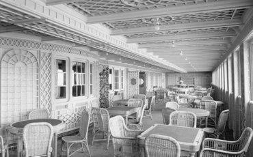 Café Parisien, a bordo del Titanic en 1912