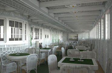 Café Parisien en el buque que zarpará en 2018