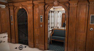 El mítico ascensor, recreado en el Titanic 2