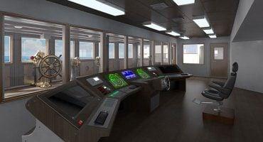 La sala de mandos del Titanic 2, totalmente equipada