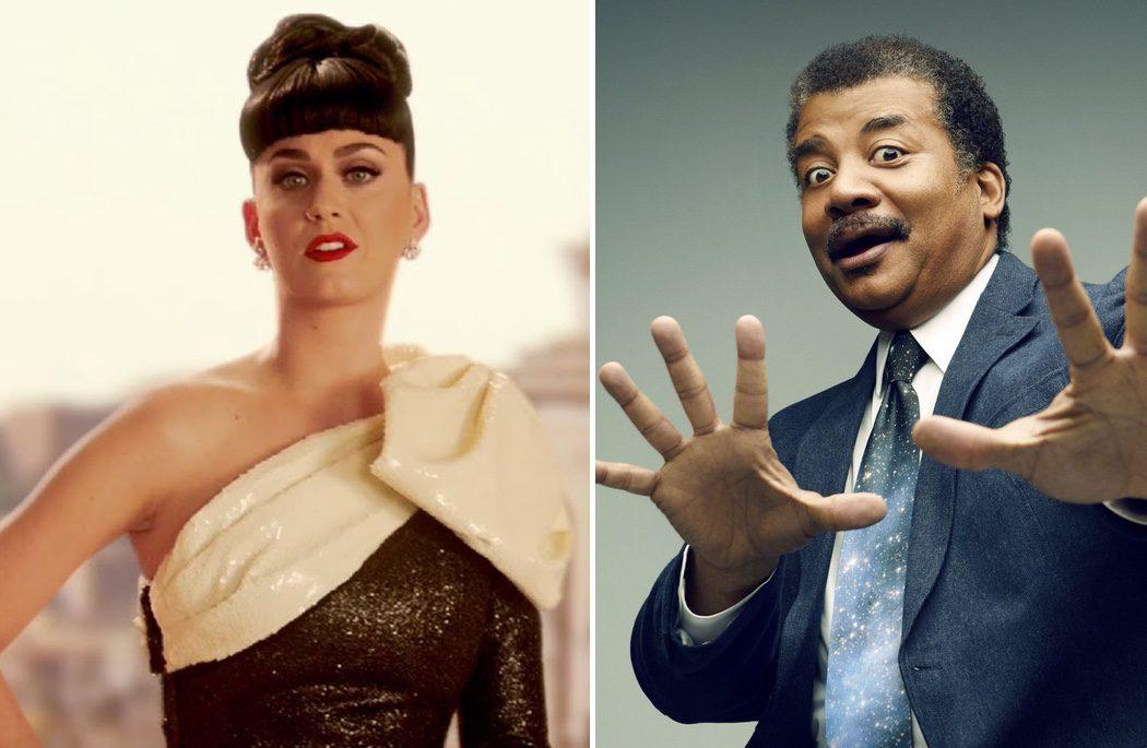 Katy Perry y Neil DeGrasse Tyson