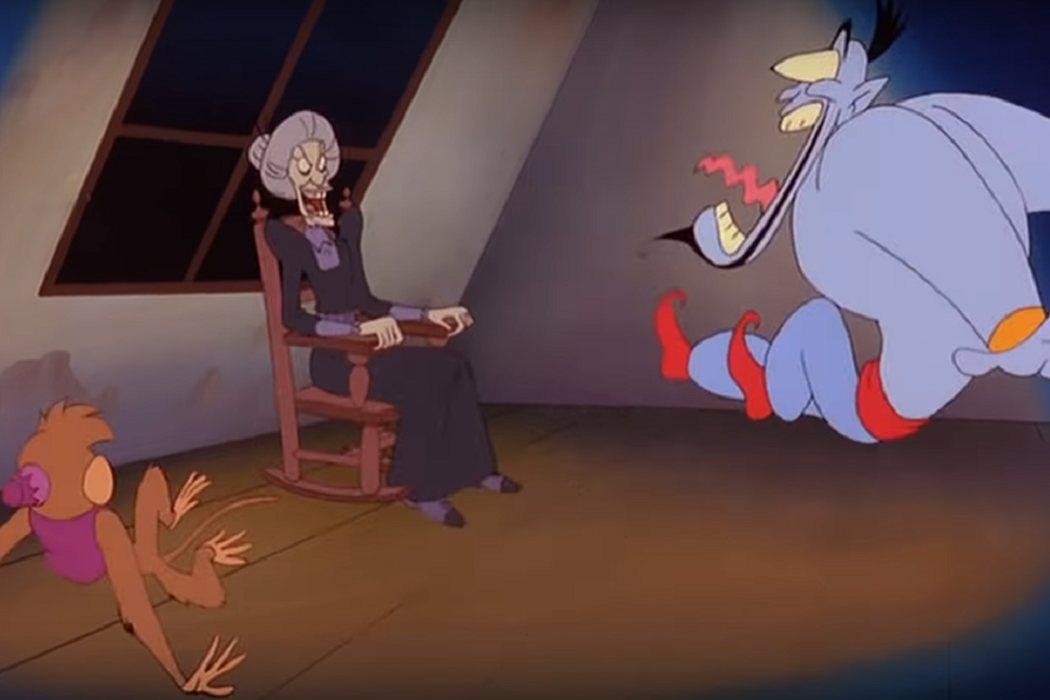 Jafar como la Sra. Bates
