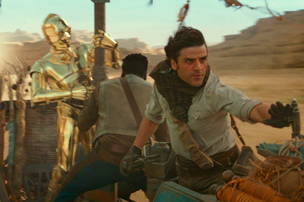 Poe, Finn y C-3PO en acción