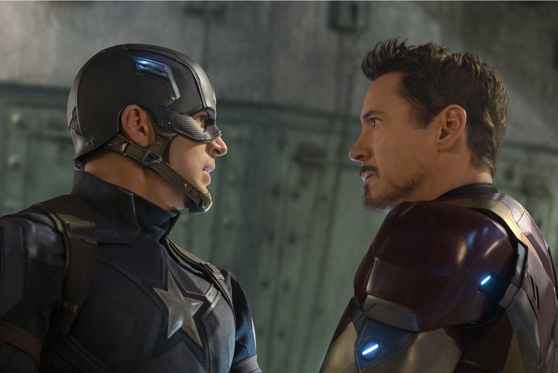 La pelea entre Iron Man y el Capitán América