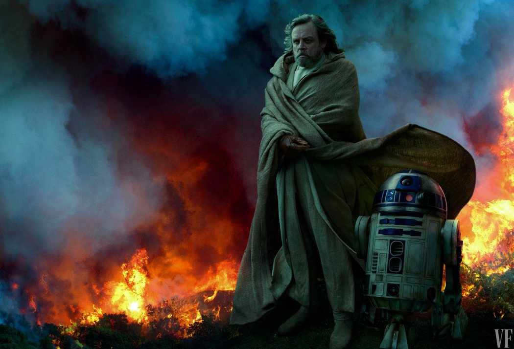 Luke Skywalker con R2-D2
