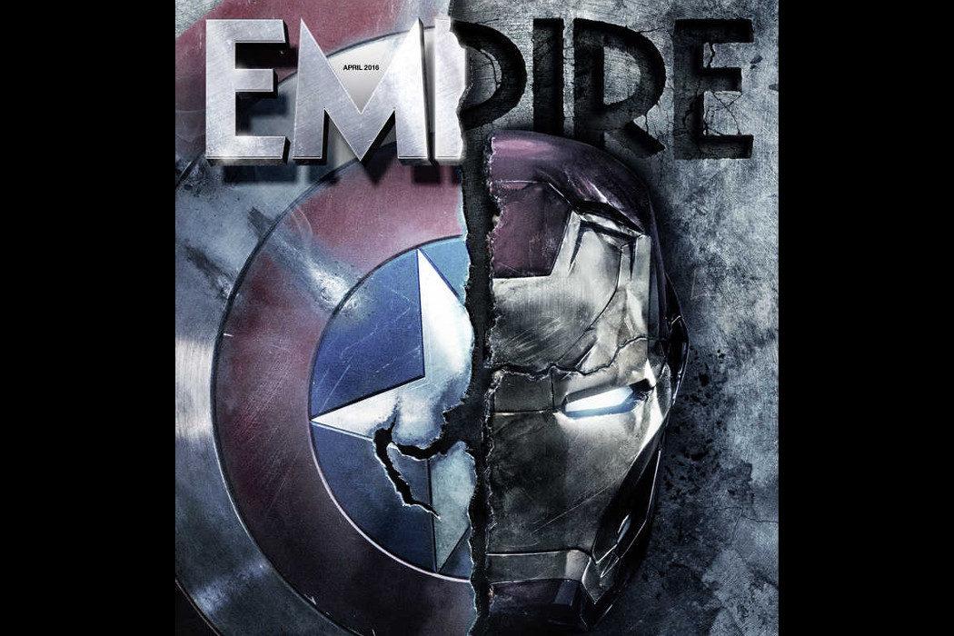 Portada Empire 'Capitán América: Civil War' Los escudos enfrentados