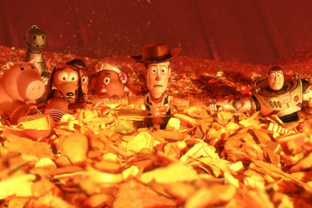 La escena de la incineradora