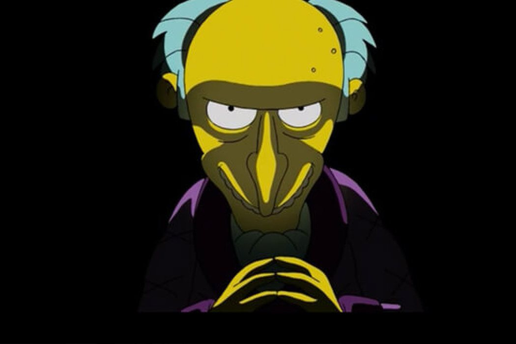 "Montgomery ""Monty'' Burns 'Los Simpson'"