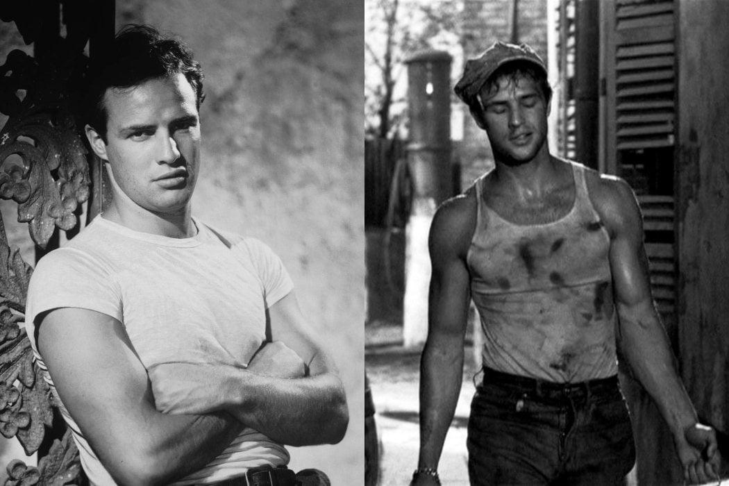 El físico de Brando y las camisetas blancas