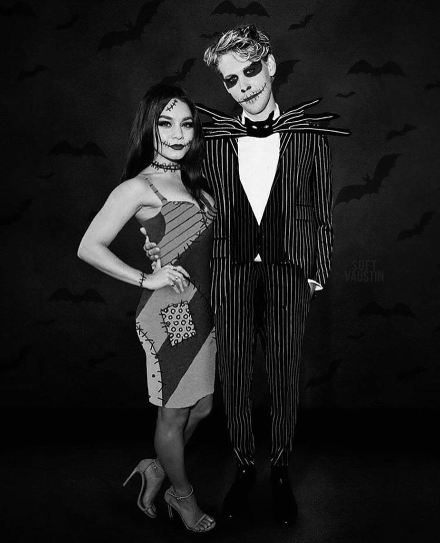 Vanessa Hudgens, Austin Butler de Sally y Jack Skeleton ('Pesadilla antes de Navidad')