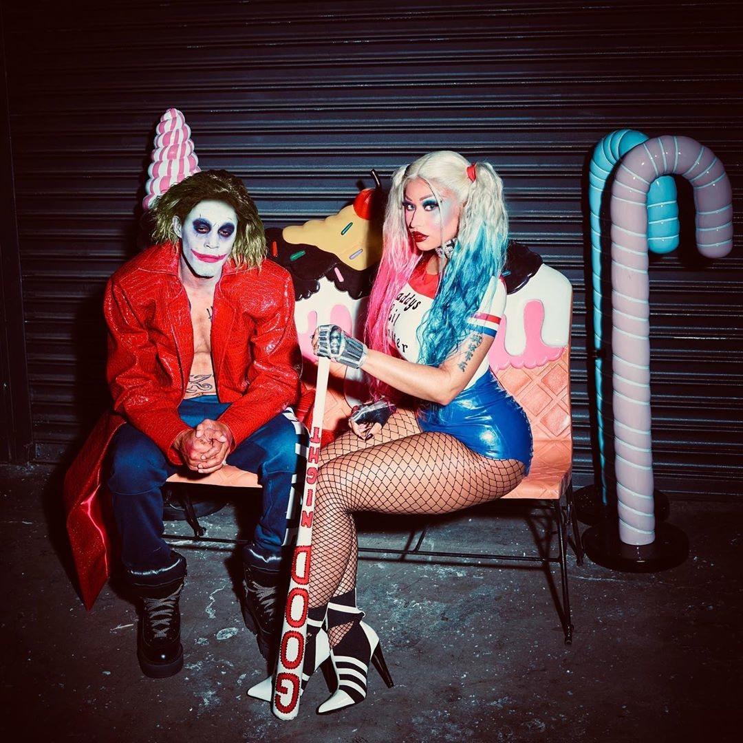 Nicki Minaj y Kenneth Petty de Harley Quinn y Joker