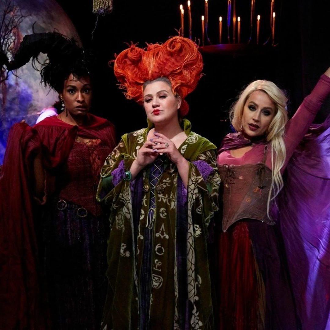 Kelly Clarkson de Winifred Sanderson de 'El retorno de las brujas'