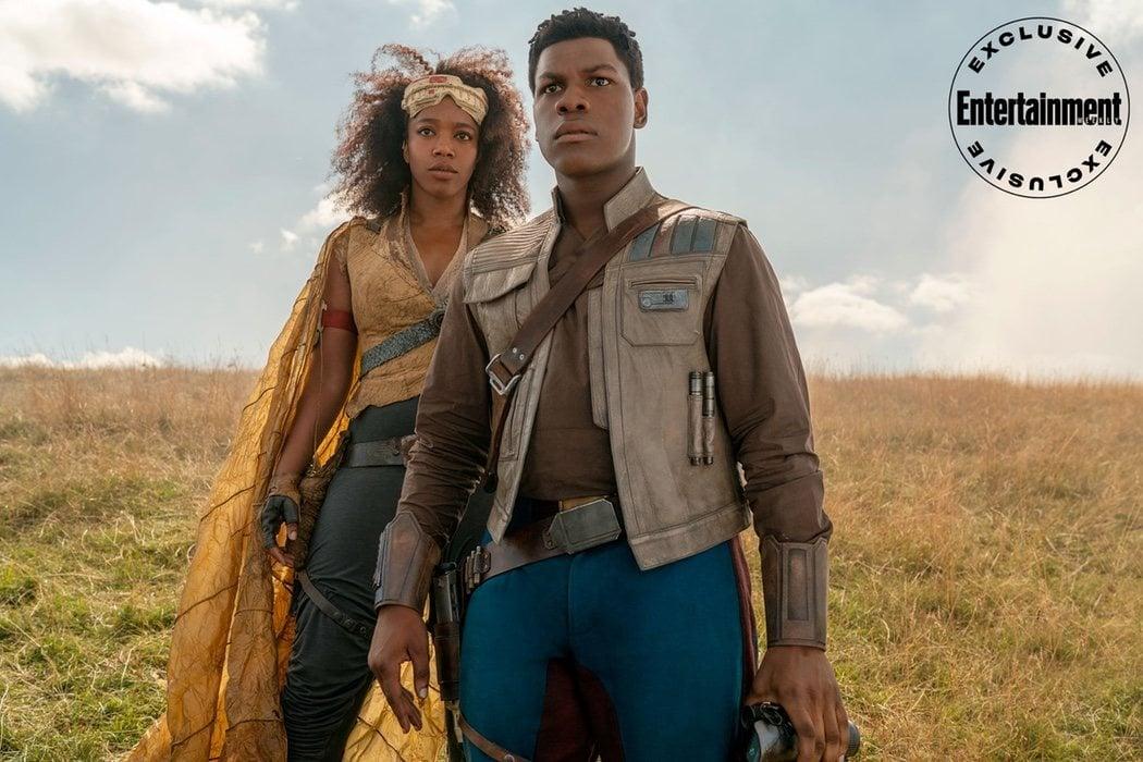 Finn (John Boyega) y Jannah (Naomie Ackie) preparados para lo que se les venga