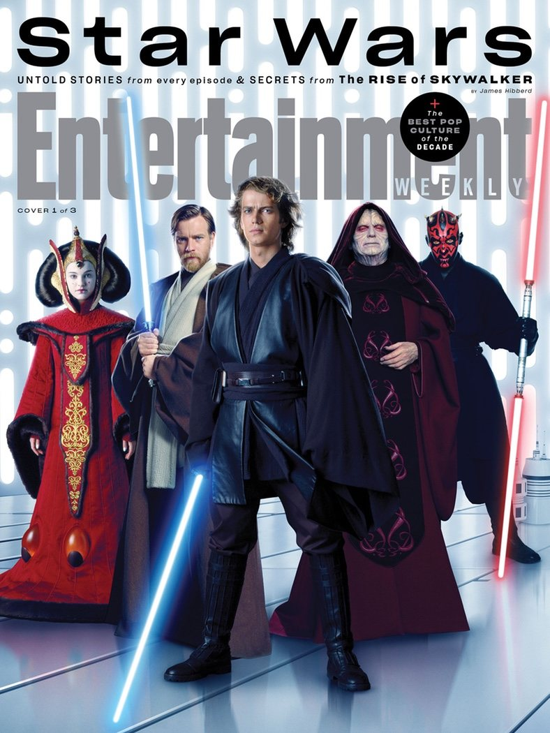 Portada Entertainment Weekly de la Saga de las precuelas