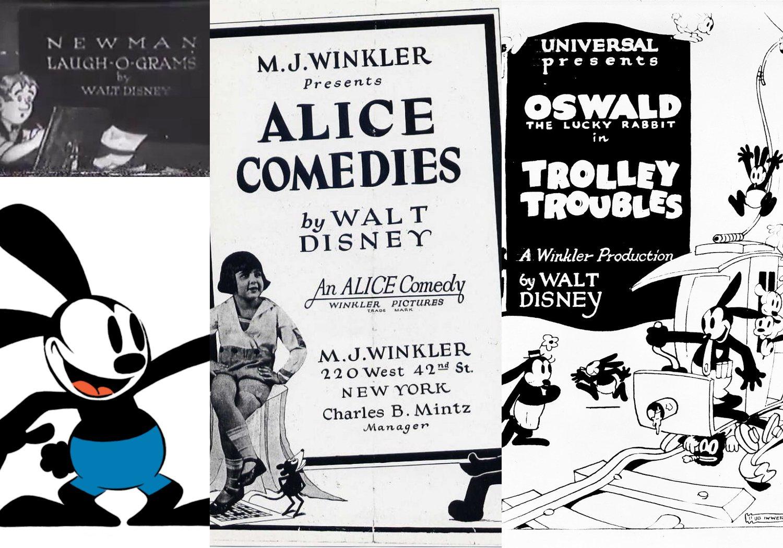 Era del cine mudo, los orígenes de la factoría Disney (1921 - 1928)