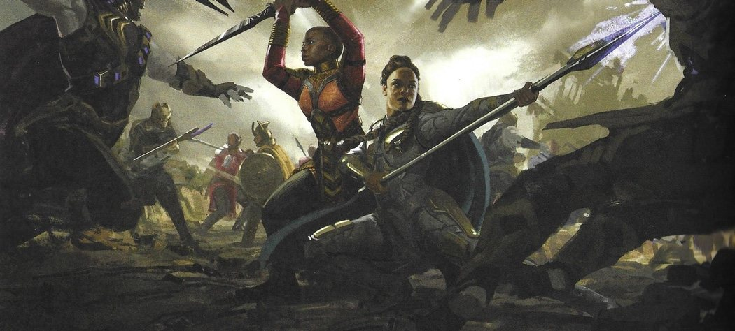 Okoye y Valquiria juntas en batalla