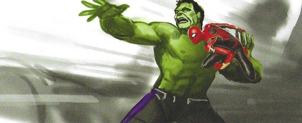 Hulk preparado para lanzar a Spiderman