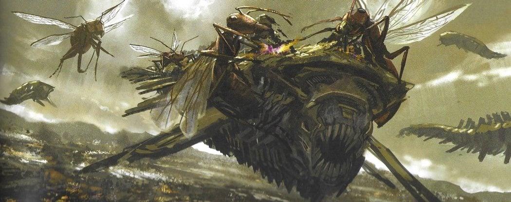 Hormigas gigantes despedazando nave chitauri