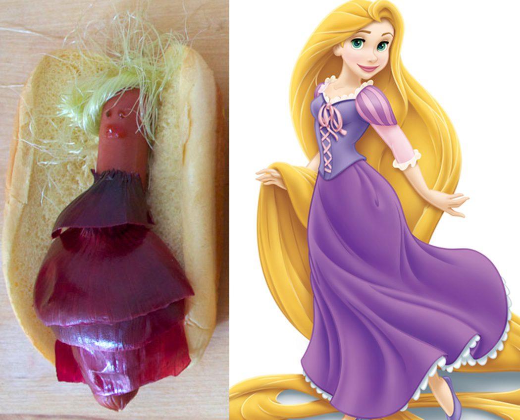 Hot Dog Rapunzel