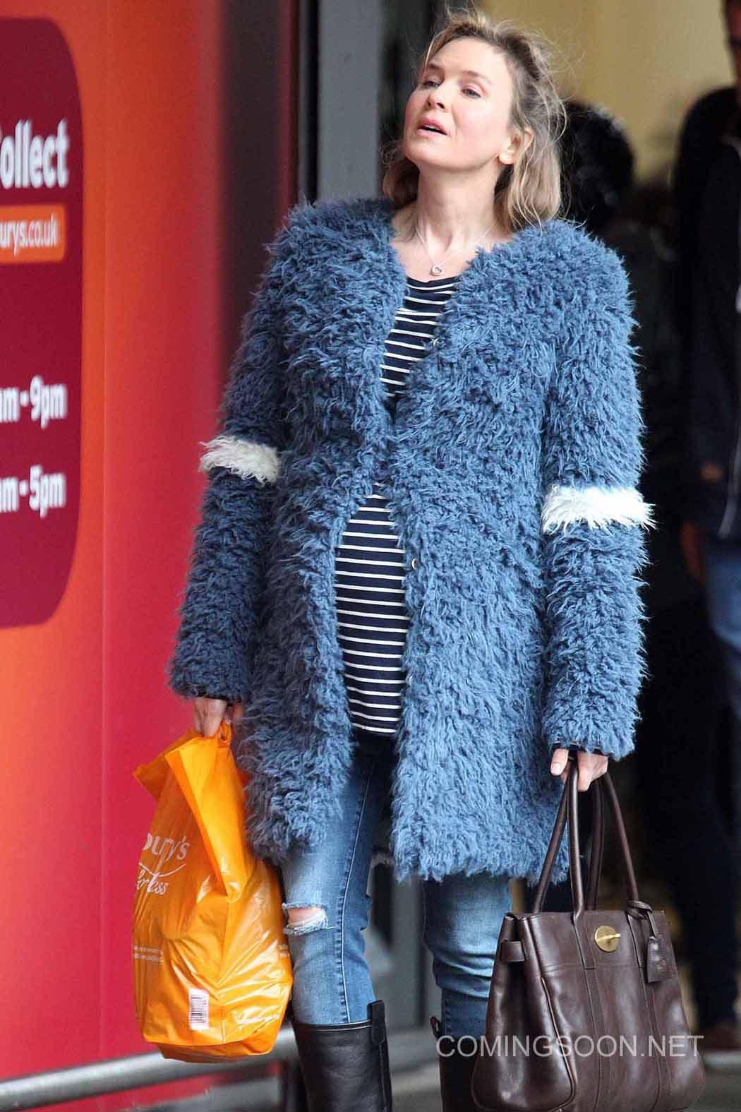 Renée Zellweger embarazada en el rodaje de 'Bridget Jones's Baby'
