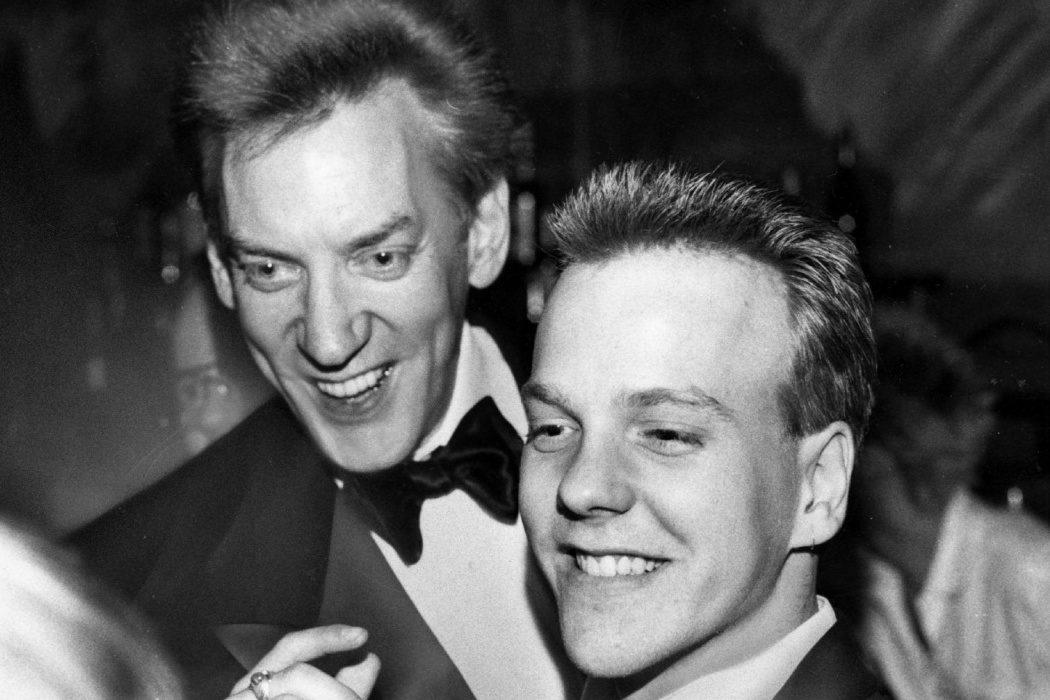 Kiefer y Donald Sutherland