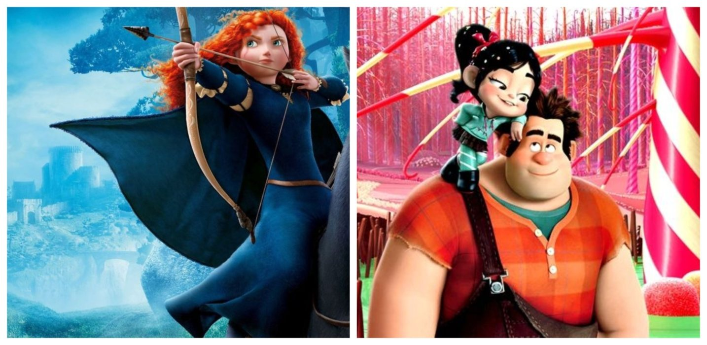Año 2012: '¡Rompe Ralph!' vs. 'Brave (Indomable)'