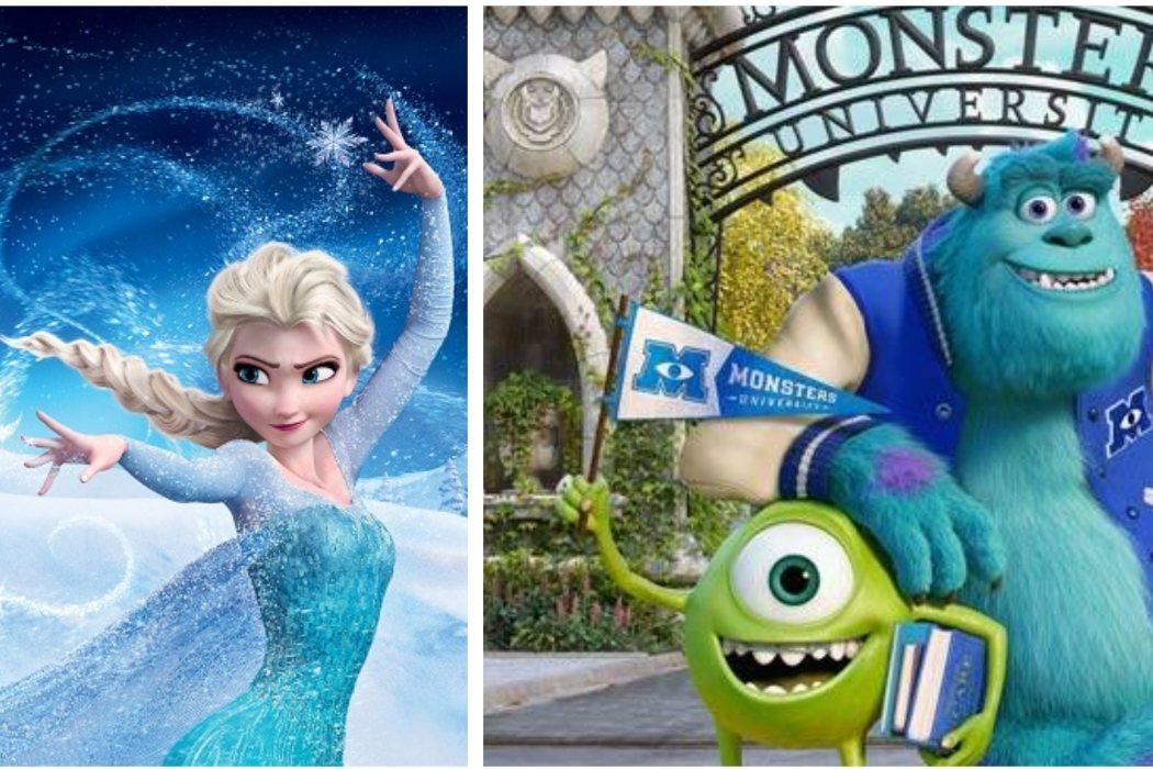 Año 2013: 'Frozen: El reino del hielo' vs. 'Monstruos University'