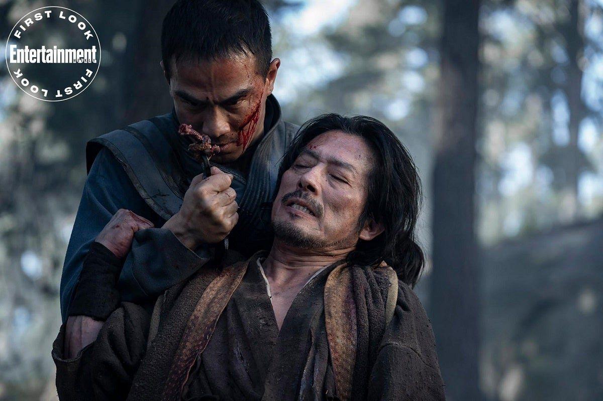 Bi-Han (Joe Taslim) y Hanzo (Hiroyuki Sanada)