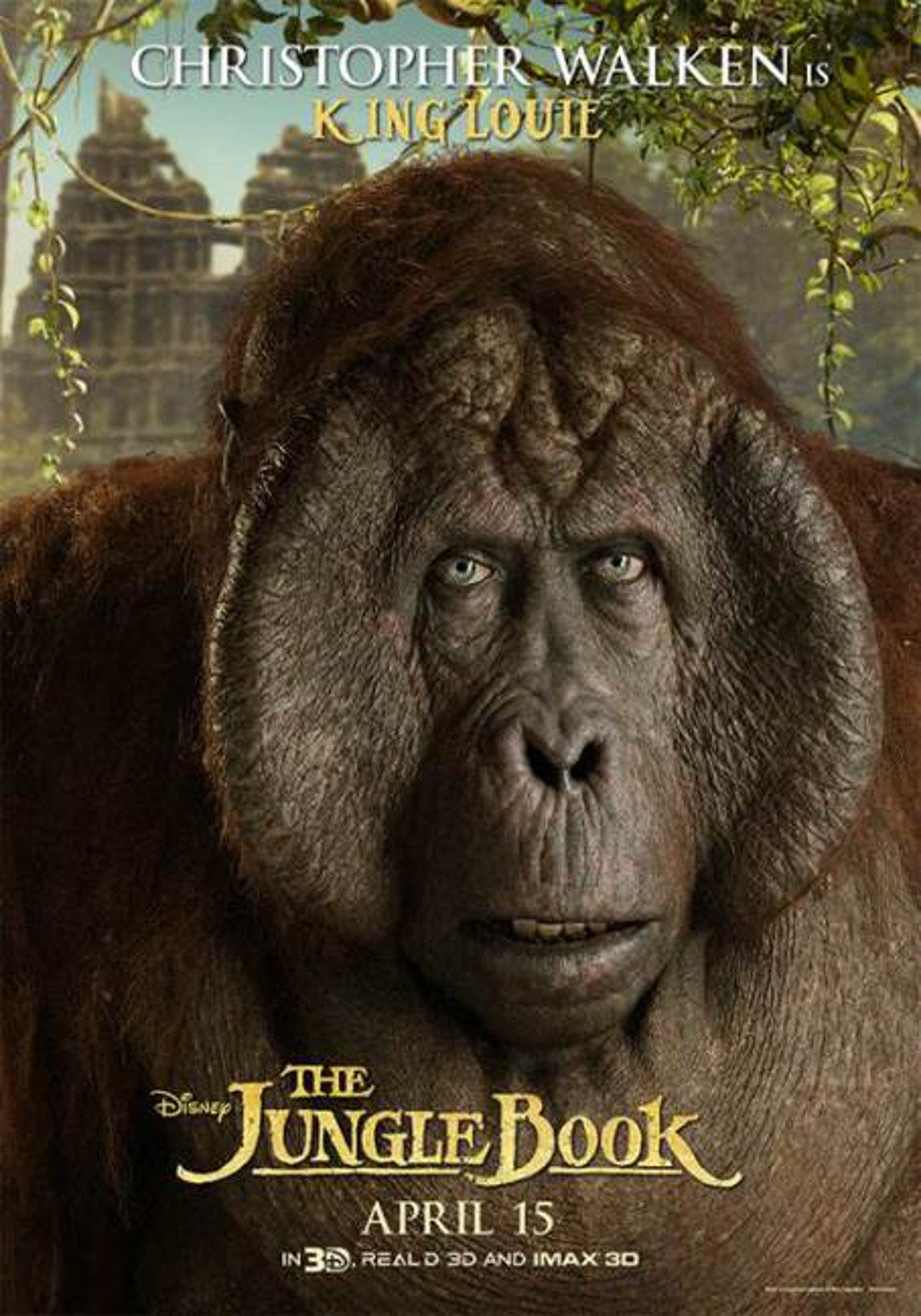 King Louie 'The Jungle Book' Poster