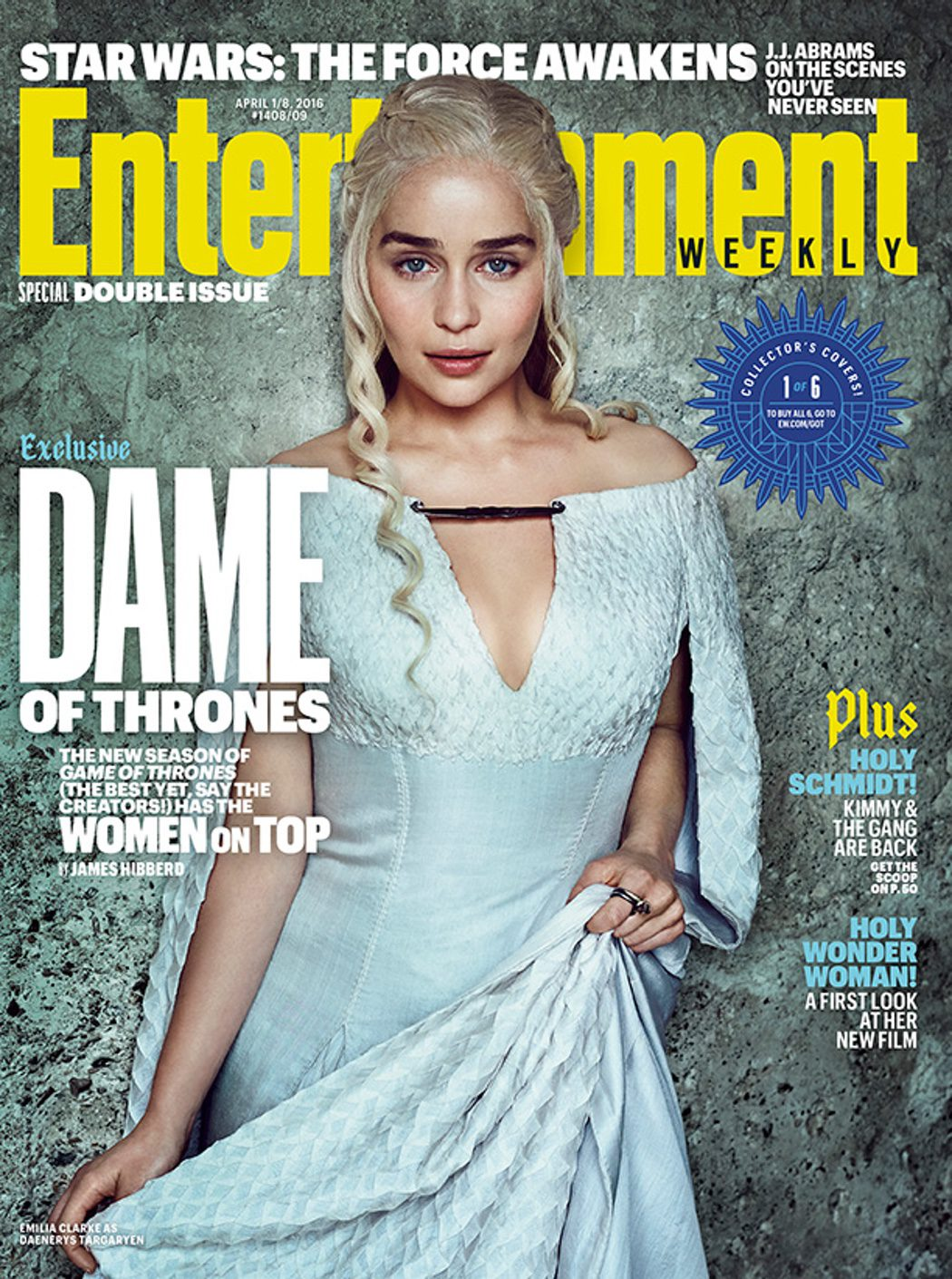 Emilia Clarke portada Entertainment Weekly