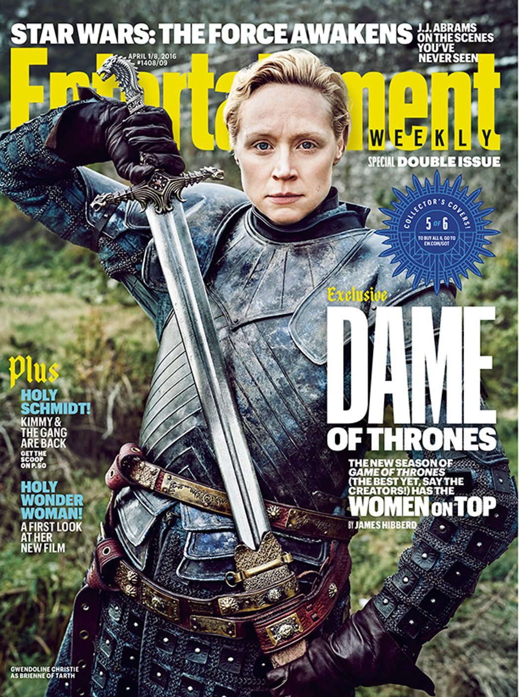 Gwendoline Christie portada Entertainment Weekly