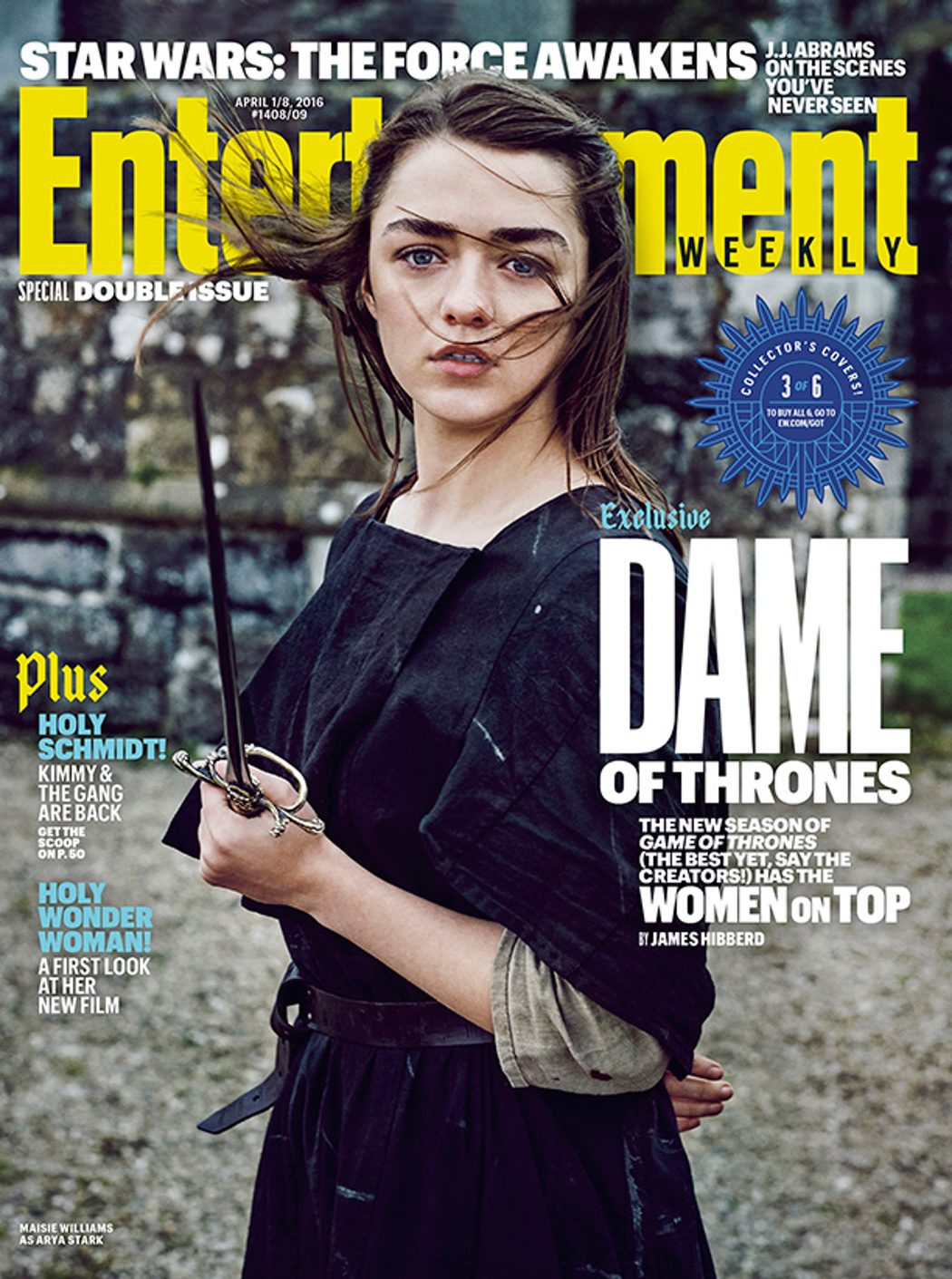 Maisie Williams portada Entertainment Weekly
