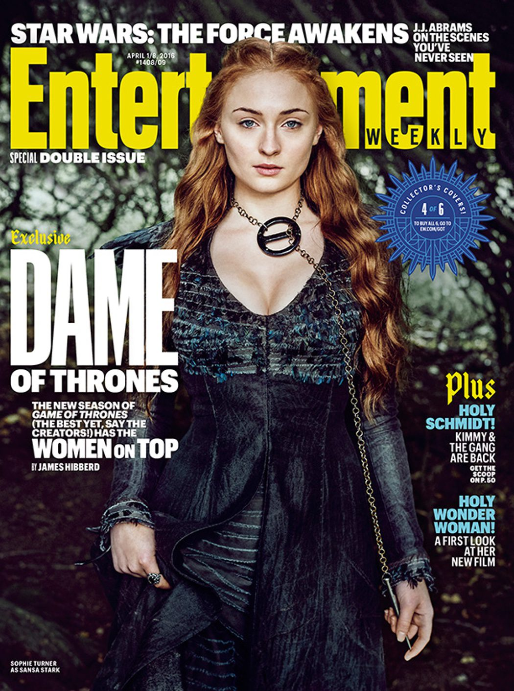 Sophie Turner portada Entertainment Weekly