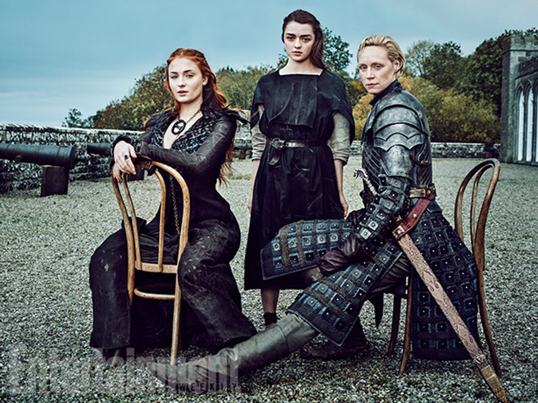 Sophie Turner, Maisie Williams y Gwendoline Christie posan juntas para Entertainment Weekly