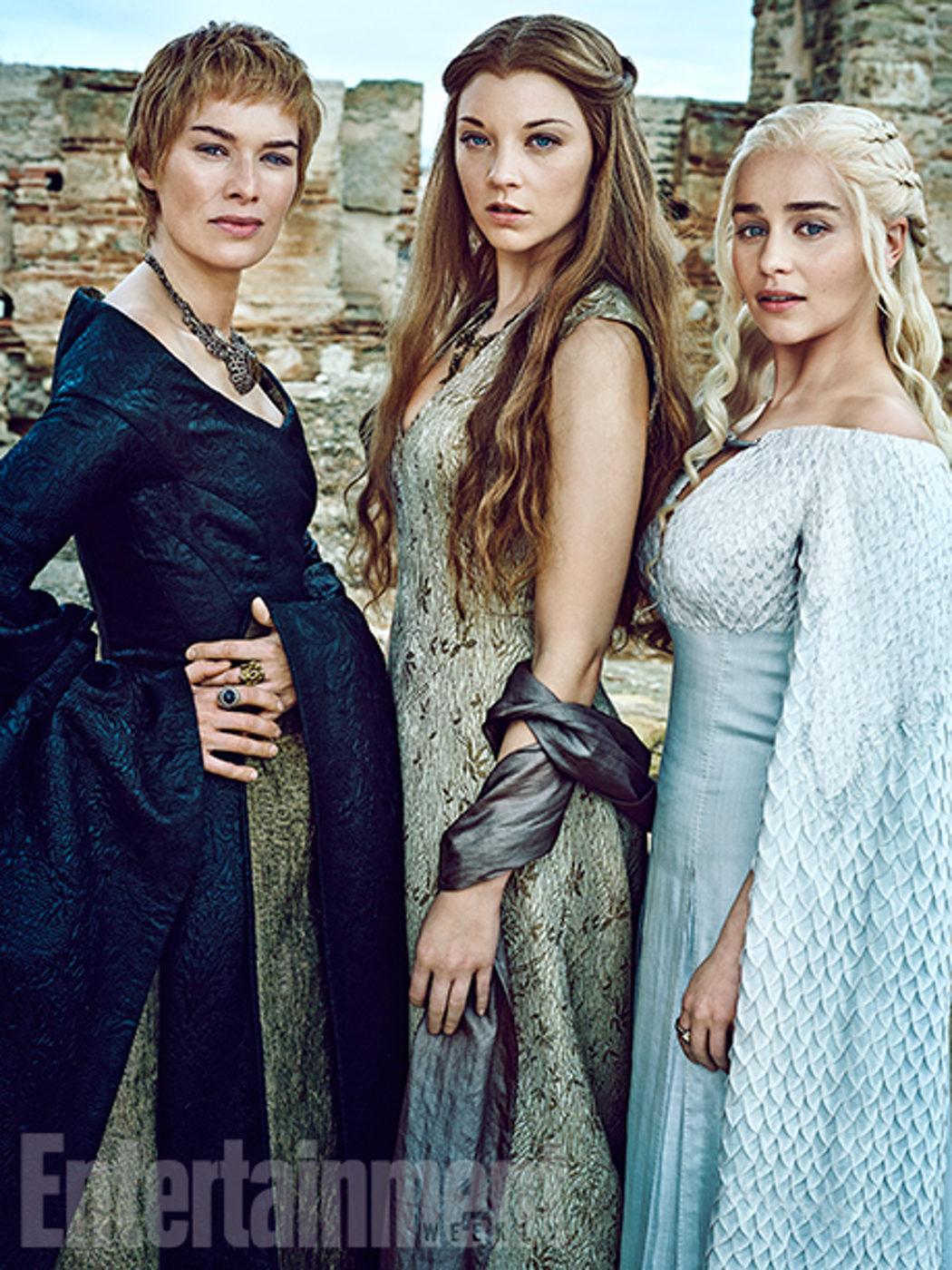 Lena Heady, Natalie Dormer y Emilia Clarke posan juntas para Entertainment Weekly