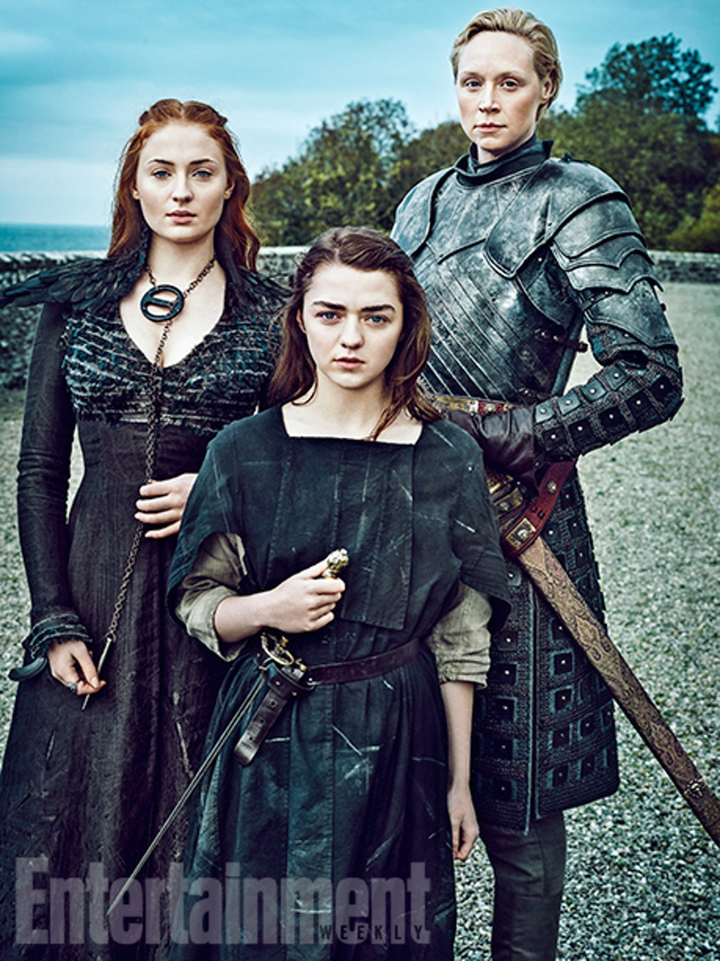 Sansa, Arya y Brienne posan juntas para Entertainment Weekly