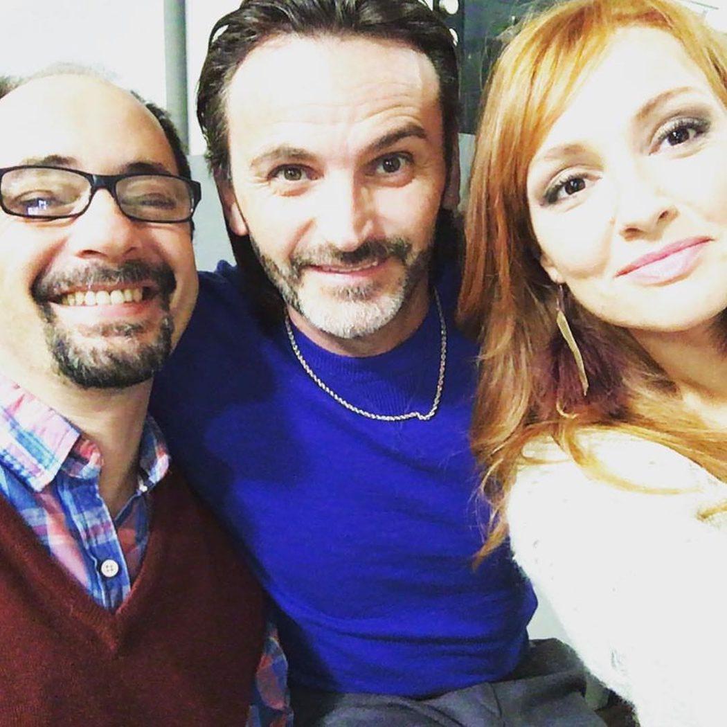 Jordi Sánchez, Fernando Tejero y Cristina Castaño en el rodaje de 'LQSA'