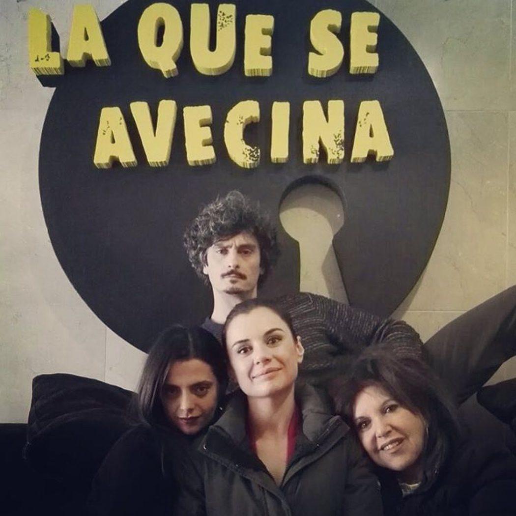 Antonio Pagudo, Miren Ibarguren, Macarena Gómez y Loles León en el rodaje de 'LQSA'