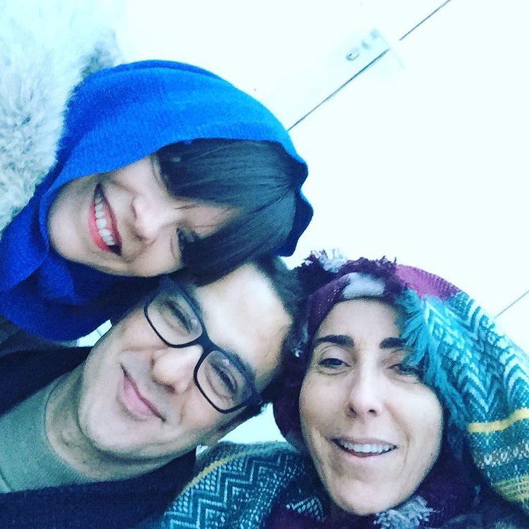 Laura Caballero, Luis Merlo y Paz Padilla en el rodaje de 'La que se avecina'
